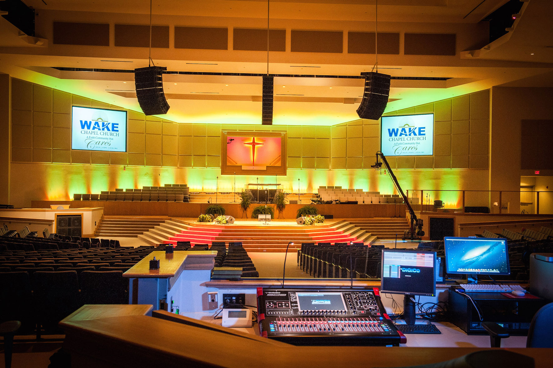 Wake Chapel DiGiCo Install